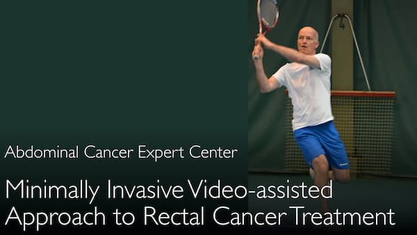 Minimally invasive rectal cancer surgery. Video-assisted transanal surgery. 4