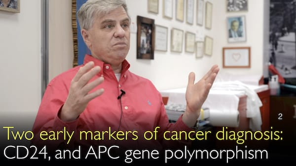 Two diagnostic markers of early cancer. CD24. APC gene polymorphism. 2